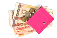 Pink wallet Stock Photo