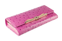 Pink wallet Stock Images