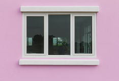 Pink Walls Glass Windows Royalty Free Stock Photo