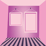 Pink walls and pink frames Royalty Free Stock Photo