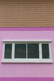 Pink walls with white window Royalty Free Stock Photo
