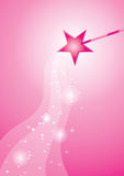 Pink wand. Sparking fairy magic from pink wand Royalty Free Stock Photos