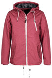Pink warm jacket. Isolated on white background Royalty Free Stock Photos