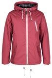 Pink warm jacket. Isolated on white background Stock Images