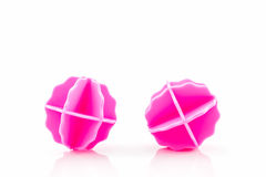 Pink washing ball, plastic balls . Royalty Free Stock Photos