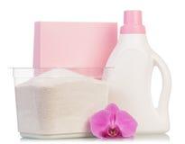 Pink washing powder Royalty Free Stock Photo