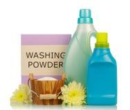 Pink washing powder Royalty Free Stock Images