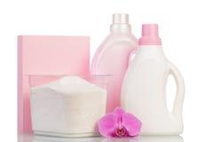 Pink washing powder Stock Images
