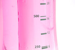 Pink Water Bottle. A pink water bottle, isolated on white Royalty Free Stock Images