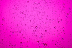 Pink water drops on the mirror Royalty Free Stock Image