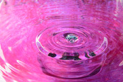 Pink water reflection Royalty Free Stock Photography