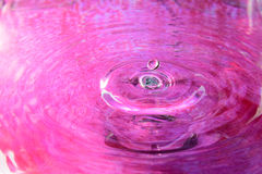 Pink water reflection Royalty Free Stock Photos