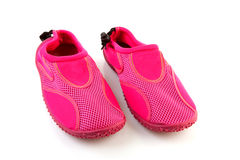 Pink water shoes stock images