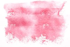 Pink Watercolor. Pink hand-colored watercolor background Stock Photography
