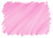 Pink watercolor background with frayed edges. Pink watercolor background with visible brushstrokes and frayed edges Stock Images