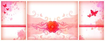 Pink watercolor backgrounds Stock Photos