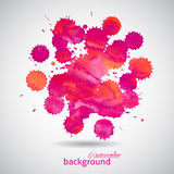 Pink watercolor blots abstract background Royalty Free Stock Image
