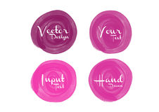 Pink watercolor circle paint, icon design, web Royalty Free Stock Images
