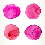 Pink watercolor circles Royalty Free Stock Images