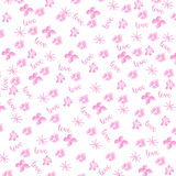 Pink watercolor floral background Stock Image