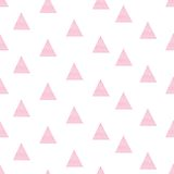 Pink watercolor hand drawn illustration triangle Stock Photos