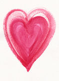 Pink watercolor heart painting Royalty Free Stock Photography