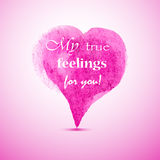 Pink watercolor heart Royalty Free Stock Photo