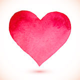 Pink Watercolor Painted Isolated Vector Heart Stock Photos
