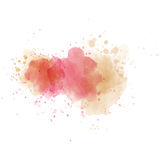 Pink watercolor painted  stain isolated on white background Stock Image