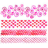 Pink watercolor pattern Stock Image