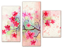 Pink watercolor poster Stock Images