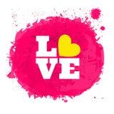 Pink Watercolor Splatter Stock Image