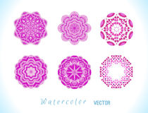 Pink watercolor vector background. stock illustration