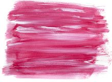 Pink watercolour paint on white paper background stock photo