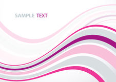 Pink wave Stock Images