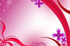 pink wave and flower, abstract background Royalty Free Stock Photos