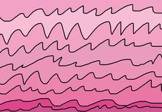 Pink Waves Royalty Free Stock Image