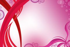 pink waves left side, abstract background Stock Photos
