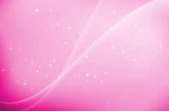 Pink waves with stars background Stock Photography