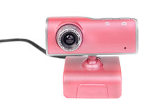 Pink web camera Royalty Free Stock Photos