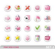 PINK WEB ICONS SET2 Stock Image