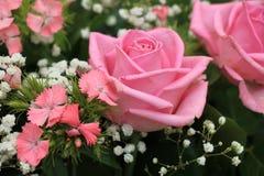Pink wedding arrangement Royalty Free Stock Photography