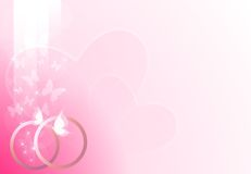 Pink wedding background Stock Photos