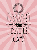 Pink wedding background with words Save the date Stock Images