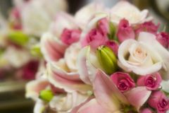 Pink wedding bouquet Royalty Free Stock Image