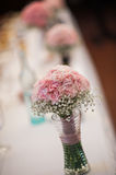 Pink wedding bouquet Royalty Free Stock Photos