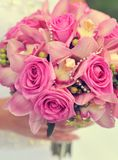 Pink wedding bouquet closeup Stock Photo