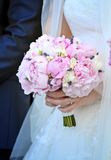 Pink wedding bouquet closeup Stock Image