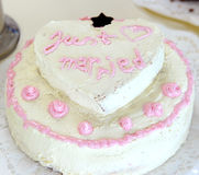 Pink wedding cake Stock Photo
