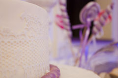 Pink wedding cake Royalty Free Stock Photography